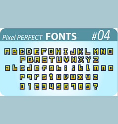 font in pixel style vector image