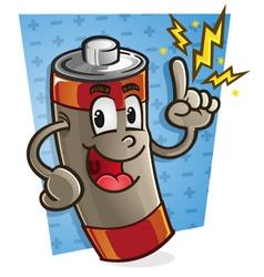 Battery Cartoon Character vector image vector image