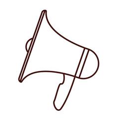 bullhorn megaphone loudspeaker vector image