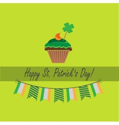card for stpatricks day vector image vector image