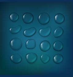 different water drops clipart transparent liquid vector image vector image