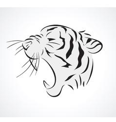 Tiger side vector