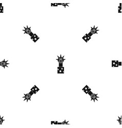 toy jumping out of box pattern seamless black vector image