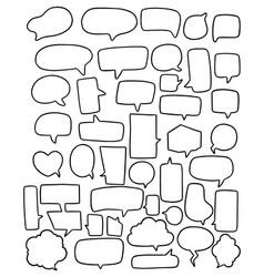 0075 hand drawn background set cute speech vector