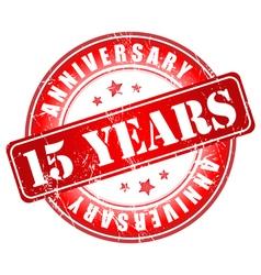 15 years anniversary stamp vector