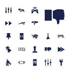 22 push icons vector