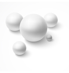 Abstract background with realistic spheres vector image