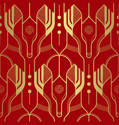 abstract line dragon head geometric seamless vector image