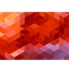Abstract red geometric background cube pattern vector