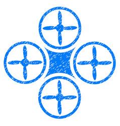 Air drone grunge icon vector