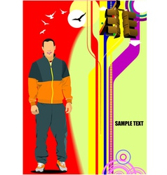 al 0709 man poster vector image