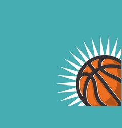 basketball themed design for web banner with a vector image