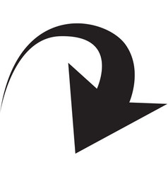 black arrows in circular motion arrow combination vector image
