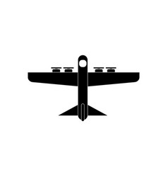 Black icon on white background heavy military vector
