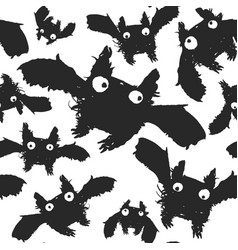 black ink bats pattern vector image