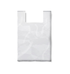 Blank plastic bag with place for your design and vector image vector image