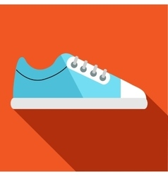 Blue golf shoe icon flat style vector