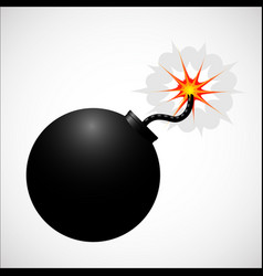 Bomb realistic icon vector