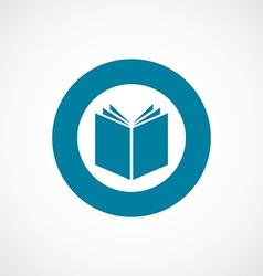 book icon bold blue circle border vector image