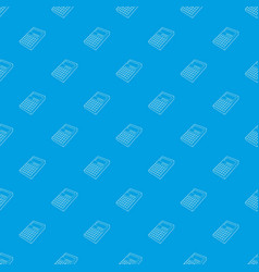 calculator pattern seamless blue vector image