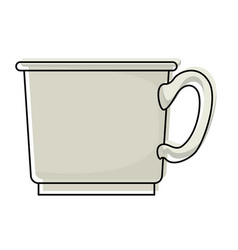 coffee cup icon in watercolor silhouette on white vector image
