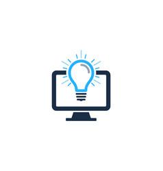 Computer idea logo icon design vector