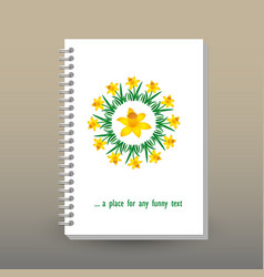 Cover of diary or notebook narcissus mandala vector
