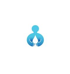 Creative body drop water logo vector