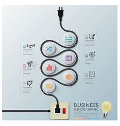 Curve Electric Wire Line Diagram Business vector image