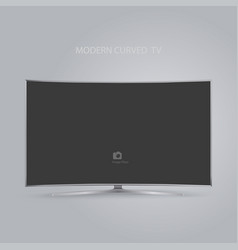 curved smart led hd tv series isolated on gray vector image