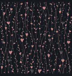cute seamless pattern with hearts branches for vector image