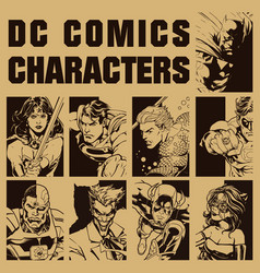 Dc characters vector