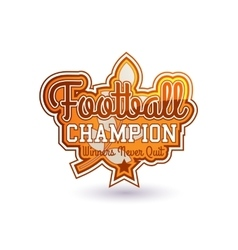 Football Badge vector
