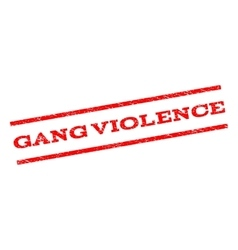 Gang Violence Watermark Stamp vector