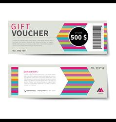 Gift voucher discount template flat design vector