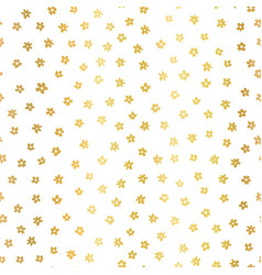 gold foil ditsy flowers seamless pattern vector image