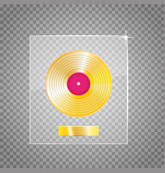 Golden vinyl lp gold template design element vector