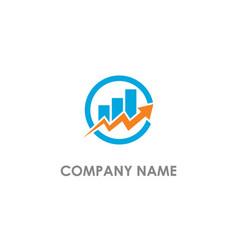 Graph arrow chart business logo vector
