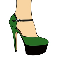 Green shoe vector image