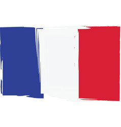 grunge france flag or banner vector image