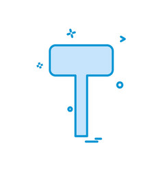 hammer tools icon design vector image