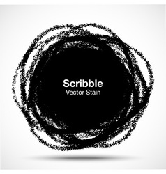 Hand Drawn in Pencil Scribble Circle logo design e vector
