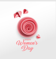 Happy women s day poster template vector