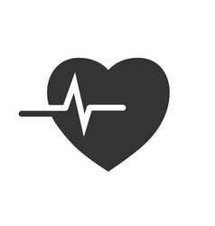 heartbeat icon image vector image
