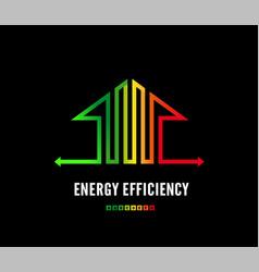 Home energy efficiency class sign eco house logo vector