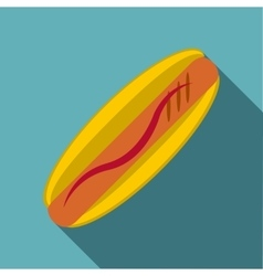 Hot dog icon flat style vector