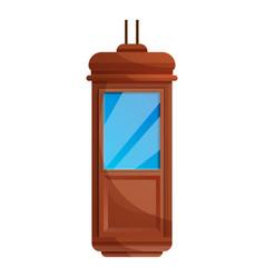 Hotel elevator cabine icon cartoon style vector