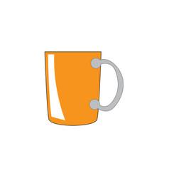 isolated mug icon vector image