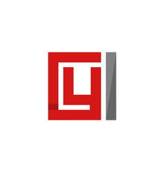 letter y square monogram logo vector image