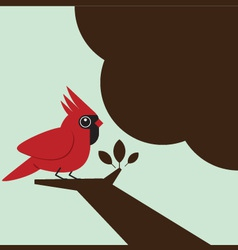 Little bird on the tree vector image vector image